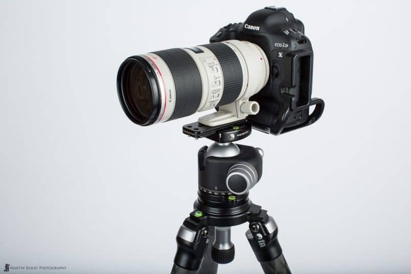 70-200mm Lens Mounted with Tripod Shoe