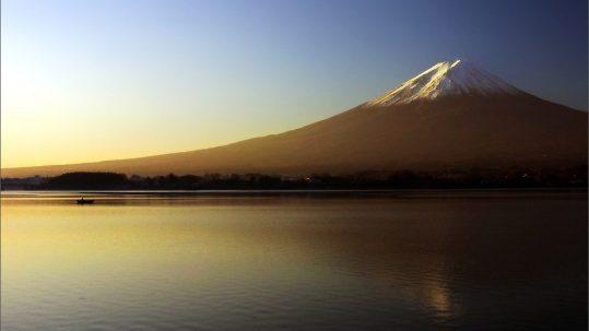 Mount Fuji & Rowing Boat