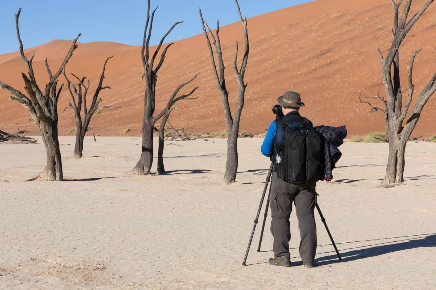 Martin in Deadvlei by Christine Roberts