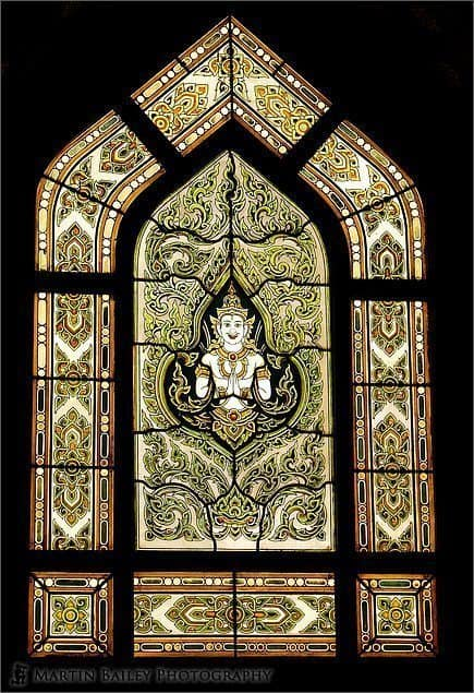 Wat Benchamabophit Stained Glass Window