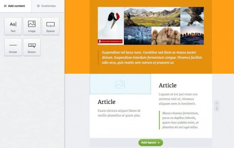 Campaign Monitor Canvas Template Design