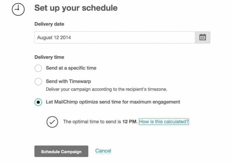 MailChimp Send Scheduling