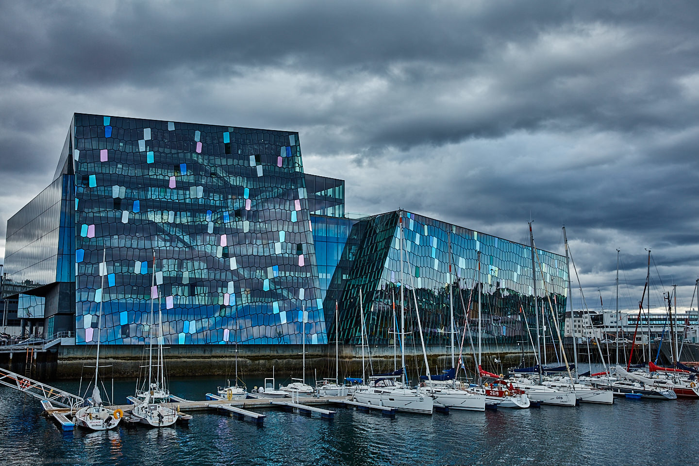 Harpa Building and Harbor