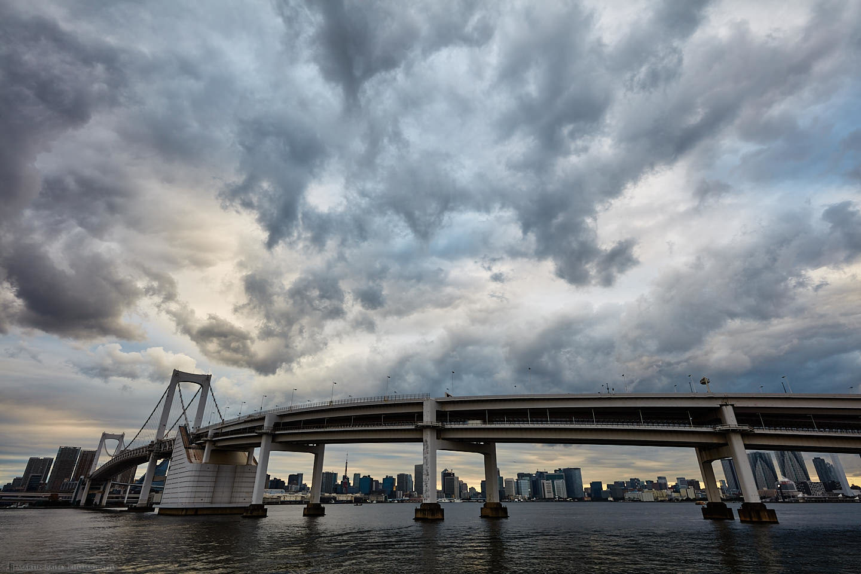 Rainbow Bridge with Big Sky