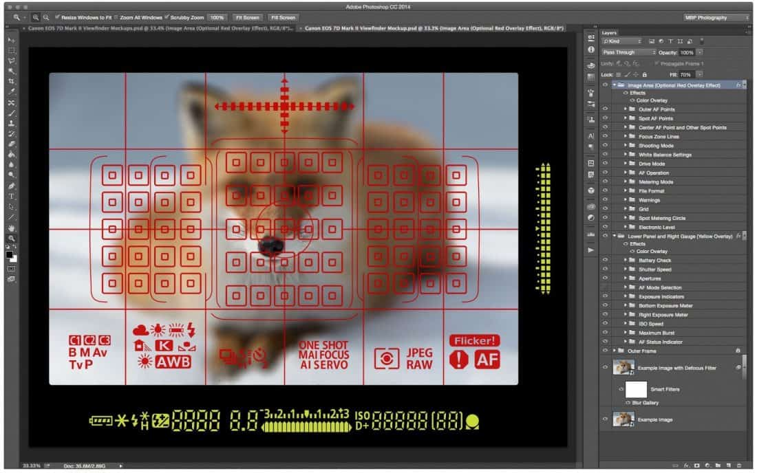 Canon EOS 7D Mark II Mockup with Everything ON