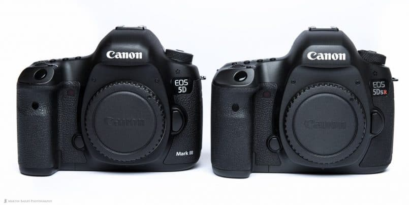Canon EOS 5D Mark III and 5Ds R Comparison (front)