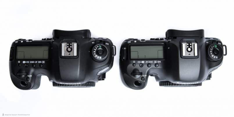 Canon EOS 5D Mark III and 5Ds R Comparison (top)