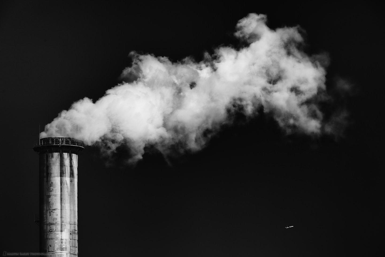 Smoke Stack with Plane