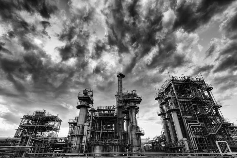 Chemical Plant with Big Sky