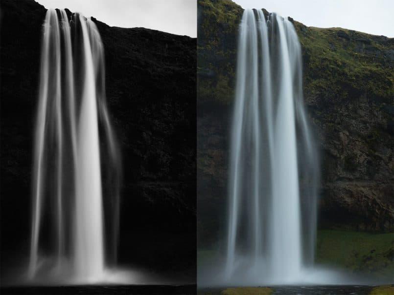 Seljalandsfoss Waterfall - Both Versions