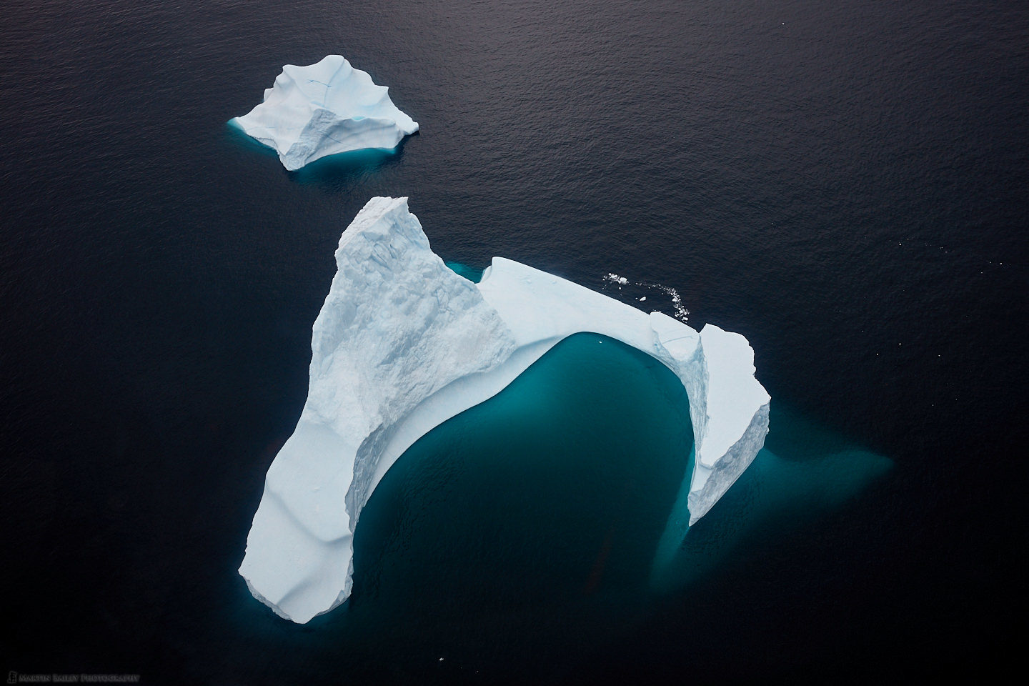 Two Icebergs from Above