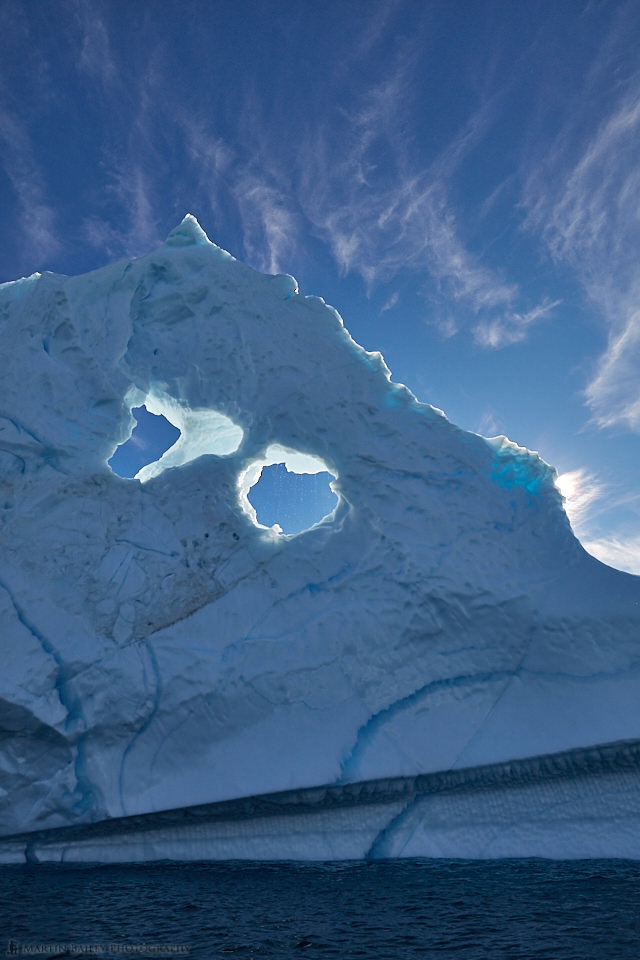 Iceberg with Two Holes