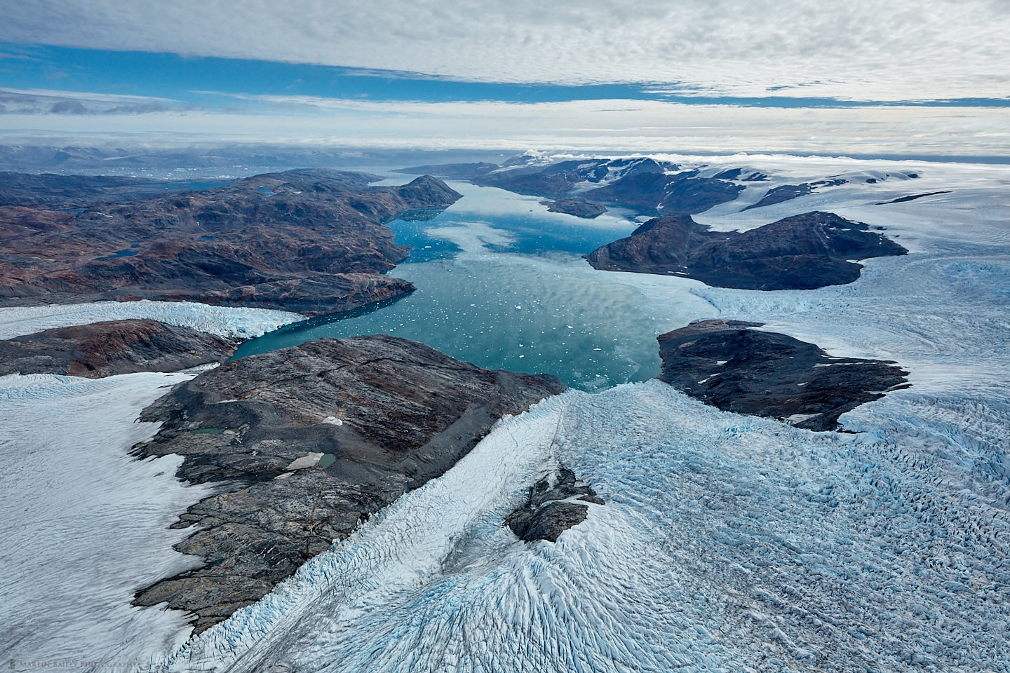 Heim and Kagtilerscorpia Glaciers and Johan Petersen Fjords from