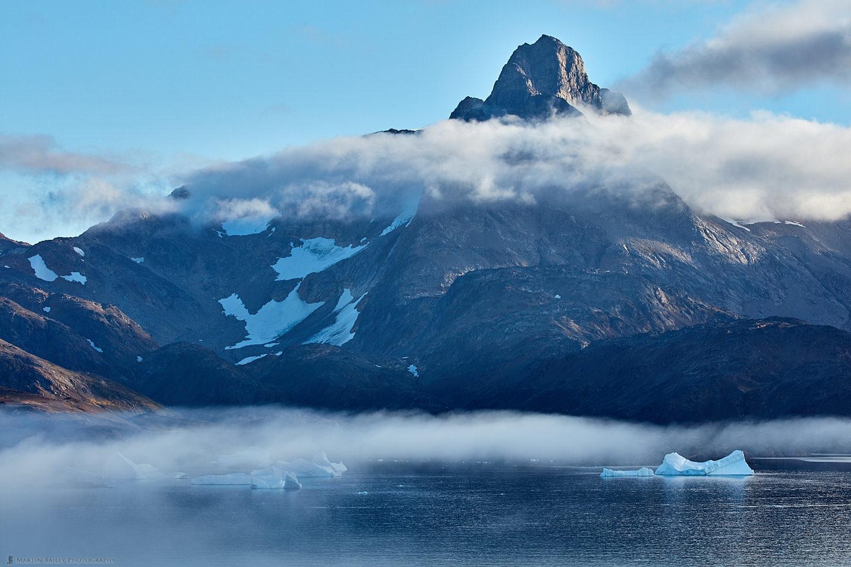 Icebergs in Mist at Tasiilaq