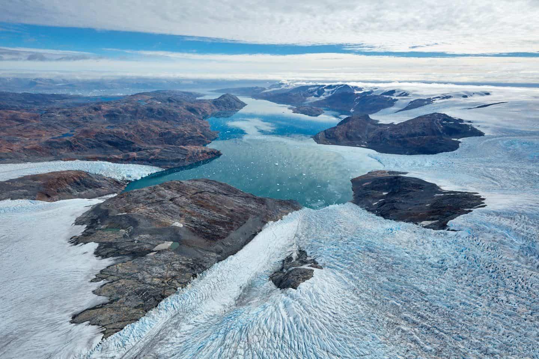 Heim and Kagtilerscorpia Glaciers and Johan Petersen Fjords