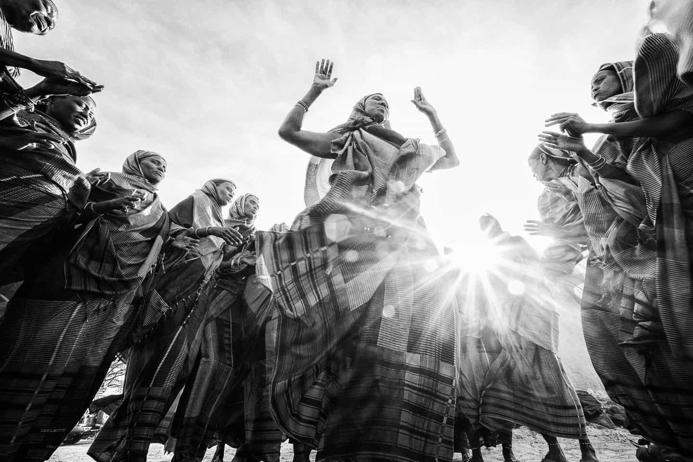 Gabra women dancing, North Horr, Kenya.