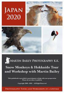 Snow Monkeys & Hokkaido 2020 Tour Guidebook Cover