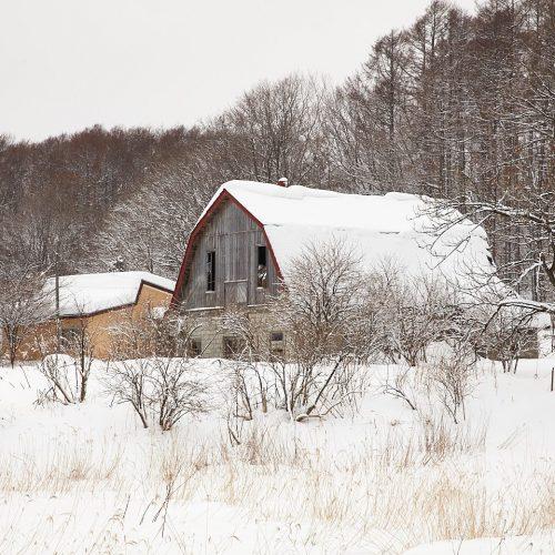 Winter Barn