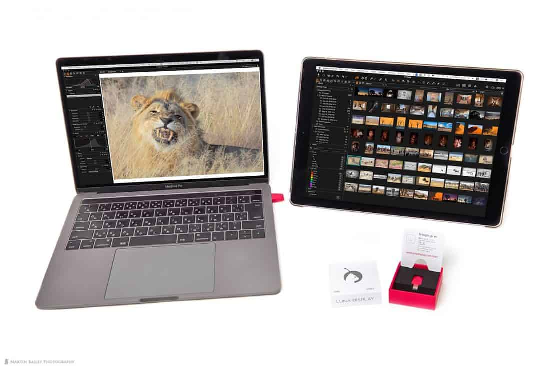 "13"" MacBook Pro with iPad Pro Running Luna Display"
