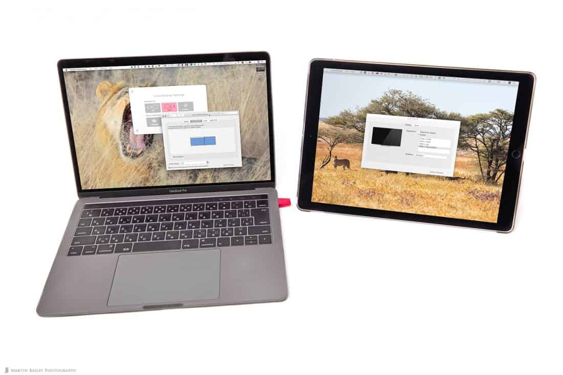 Mac OSX Display Settings via Luna Display