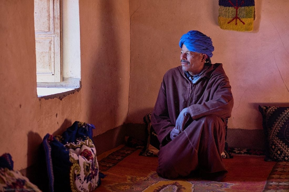 Moroccan Man in Window Light