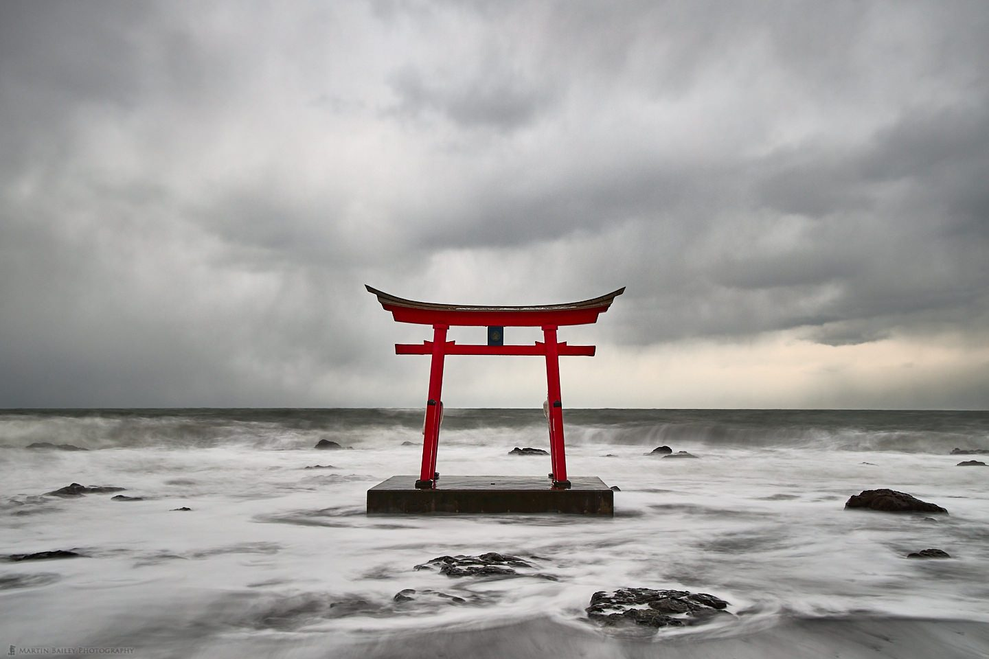 Torii Gate with Snow Clouds