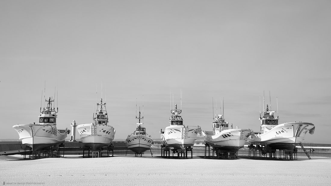 Fishing Boats On Land for Winter