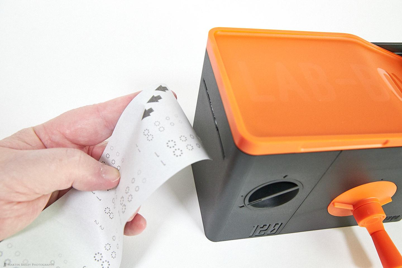 LAB-BOX Tearing Away Backing Paper