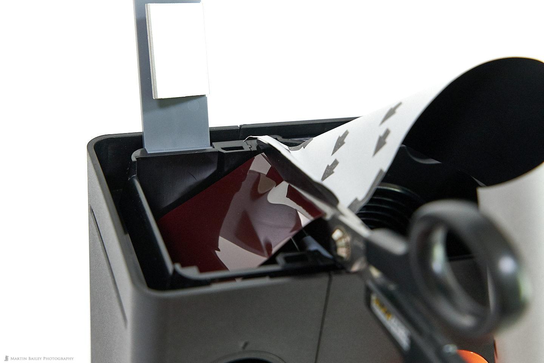 LAB-BOX Cut Away Backing Paper End