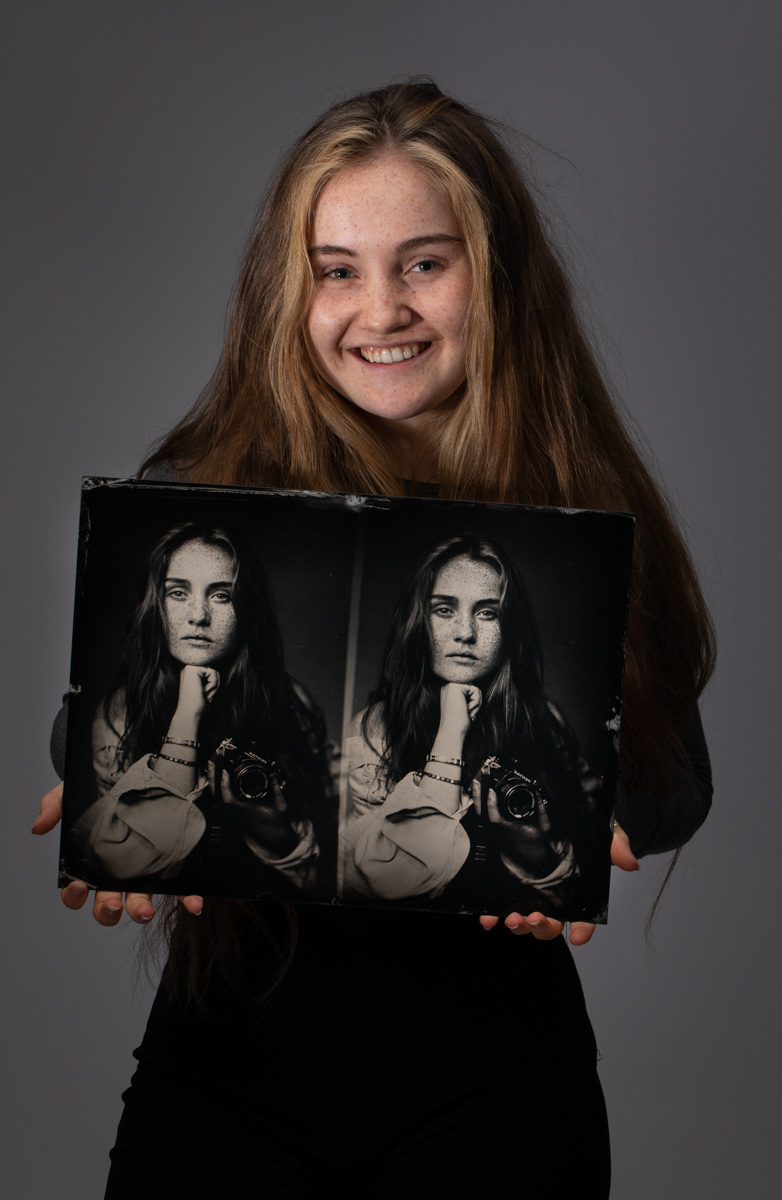 The Photographer with her Photo