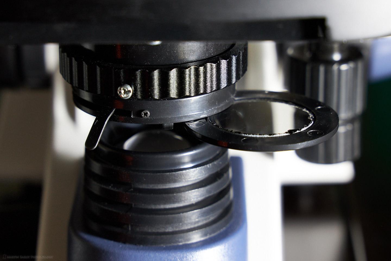 Polarizer Filter in Diaphragm Filter Holder