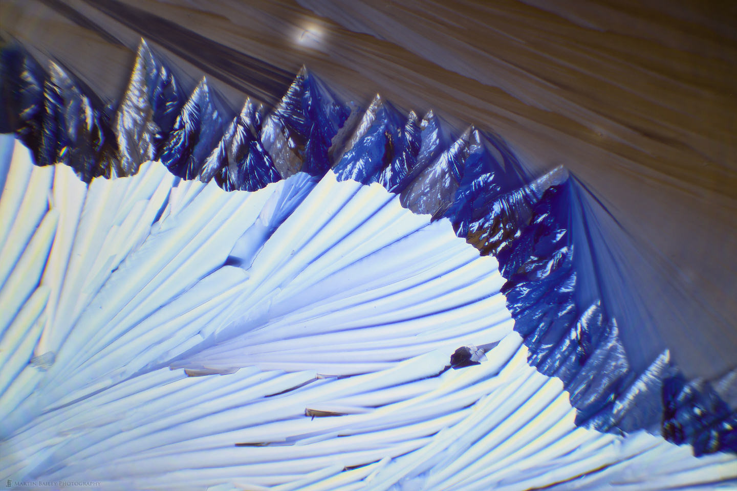 Mountain Range and Moon (Citric Acid Crystals 40X 20 Frames)