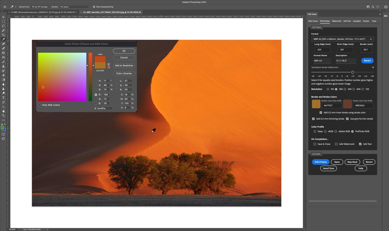 Sampling Frame Colors